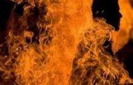 एसपी ऑफिस में पेट्रोल डालकर आत्मदाह का प्रयास