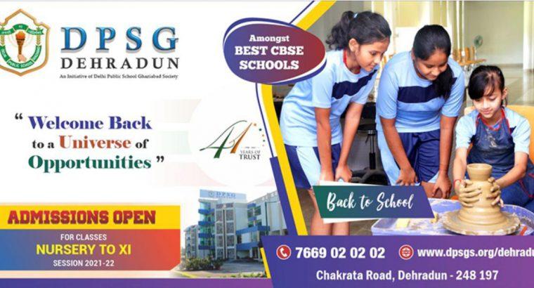 DPSG Dehradun Admission Start Nursary to XI